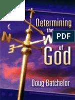 Determining the Will of God - Doug Batchelor.epub