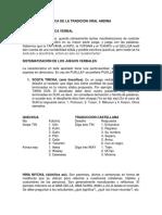Expresividad Lúdica de La Tradición Oral Andina