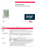 Leica GPS 1200 Technical Reference Manual