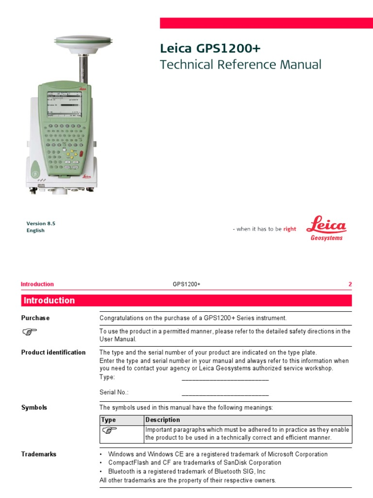 Leica GPS 1200 Technical Reference Manual | General Packet Radio Service |  Surveying