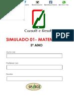 Simulado 01 - Mat - 5º Ano - (Blog Do Prof. Adonis)