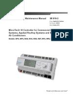 Daikin IM 919-3 LR MT-III Controller for AHU Manual