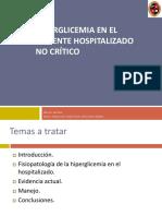 Hiperglicemia en el paciente Hospitalizado no crítico