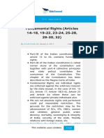 Fundamental Rights (Articles 14-18_ 19-22_ 23-24_ 25-28_ 29-30_ 32)