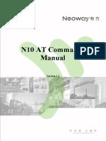 Neoway n10 at Command Manual v11