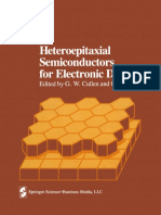 G. W. Cullen, C. C. Wang (Auth.), G. W. Cullen, C. C. Wang (Eds.)-Heteroepitaxial Semiconductors for Electronic Devices-Springer-Verlag New York (1978)
