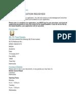 IELTS Application