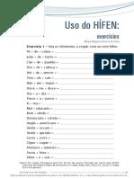 Uso Do Hifen - Exercícios