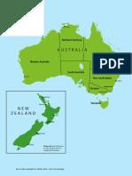 Australia and Newzealand Map Worksheets