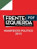 Manifiesto FIT 2015 (Partido Obrero)