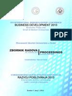 Razvoj Poslovanja BiH 2013 Zbornik Radova