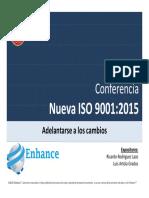 Charla Nueva ISO 9001 2015