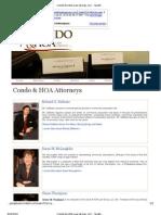 Condo HOA Law Group - Fraud
