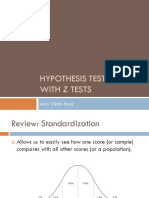 Hypothesis Testing With z Tests