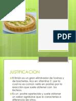 Postre de Limon Presentacion
