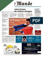 JOURNAL Le Monde Du Jeudi 10 Aout 2017