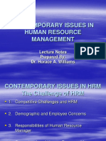 Hrm Contemporary Issues