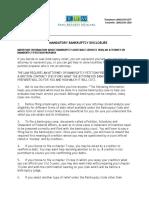 Mandatory Bankruptcy Disclosure