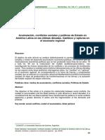 Acumulación, conflictos sociales y políticas de Estado en América Latina en las últimas décadas. Cambios y rupturas en el escenario regional