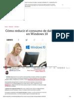 Cómo reducir el consumo de datos y energía en Windows 10 - ComputerHoy.pdf
