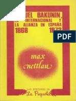 Nettlau Max - Miguel Bakunin La Internacional Y La Alianza En España 1868 1873.epub