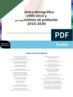 Dinámica demográfica 1990-2010 proyecciones de población 2010-2030