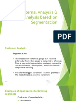 External Analysis & Segmentation