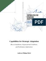 Capabilities for Strategic Adaptation Were Bucha