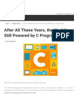 After All These Years, the World is Still Powered by C Programming | TECH INFO