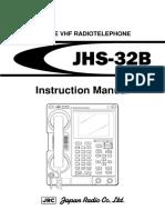 JHS 32BInstruction Manual