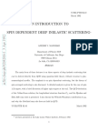 An Introduction to Spin Dependent Deep Inelastic Scattering