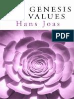 JOAS, Hans. The Genesis of Values (2000)