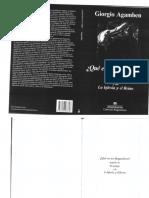 Qué Es Un Dispositivo - Agamben, G. (Anagrama) PDF