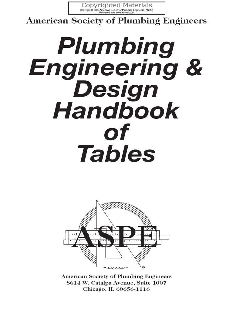 -Plumbing Engineering and Design Handbook of Tables