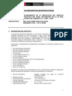 Memoria Descriptiva - Estructuras 8190 SECUNDARIA