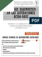Abordaje Diagnostico en Las Alteraciones Acido-base