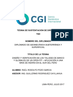 Tesina Tsd Diplomado de Geomecanica Raul Rodolfo Pozo Garcia