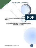 Cuestionario Analisis Economico Politico y Social de México