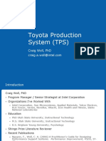 Toyota Production System (TPS) OVERVIEW