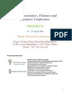 Paris Conference Program April 2015