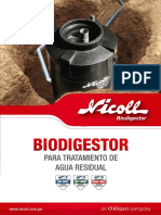 Ultimo Triptico Biodigetor 750lt - 1350lt