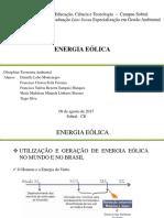 Trabalho Energia e Desenvolvimento ENERGIA EÓLICA