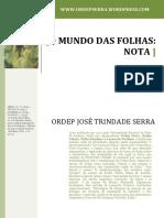 Nota Sobre o Mundo Das Folhas1