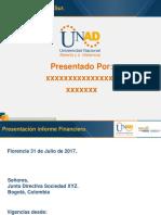 Presentacion Informe Financiero sociedad xyz