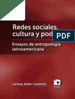 Lomnitz, L. - Redes Sociales, Cultura y Poder. Ensayos de Antropología Latinoamericana