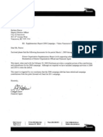 Vision Vancouver Supplementary Financial Disclosure