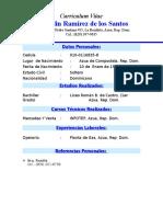 Curriculum Miguelin Ramírez de Los Santos