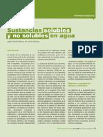 Sustancias Solubles y No Solubles en Agua - AU 203