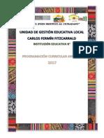 PLANIFICACIÓN CURRICULAR ANUAL LC2 ESTO 1° Y 2° GRADO
