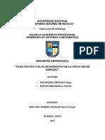 Plan Táctico y El Plan Operativo de La Facultad de Ciencias-UNASAM